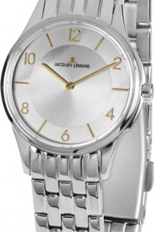 JACQUES LEMANS Damenuhr London Metallband Edelstahl 1-1807.1Z