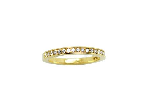 Gelbgold Memorie Damenring 750/-  mit Diamanten 0,22ct w/vsi