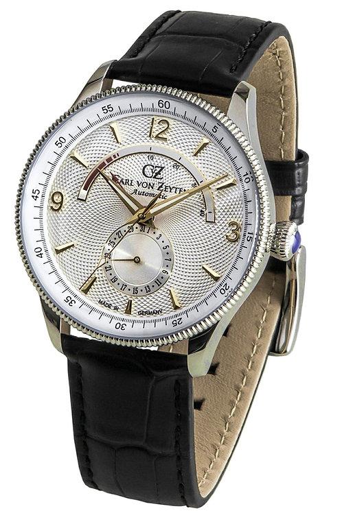 Herren  Automatik Uhr mit Leder Armband -Neuschwanstein- CVZ0032WH