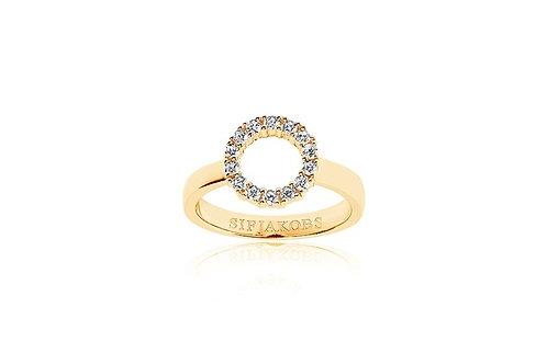 Ring Biella Piccolo - 18K Gold plattiert mit weißen Zirkonia