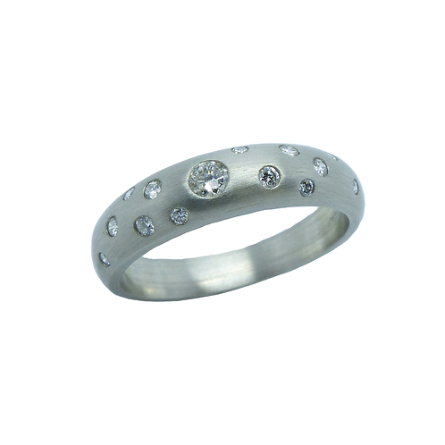 Damenring UP921PT56  Platin 950/-  mit Diamanten 0,27ct tw/vsi