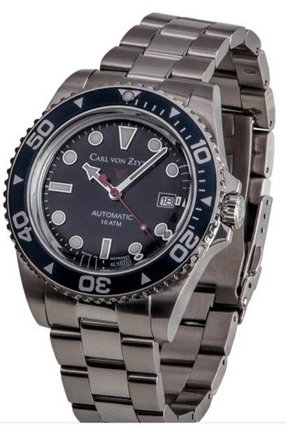 Carl von Zeyten Herren Uhr Armbanduhr Automatik NO.30 CVZ0030BKMB