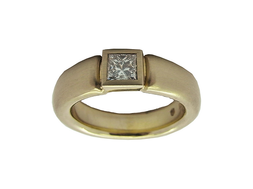 Gelbgold 585/- Damenring mit Diamant, Princess 0,041 TW/SI UP5018