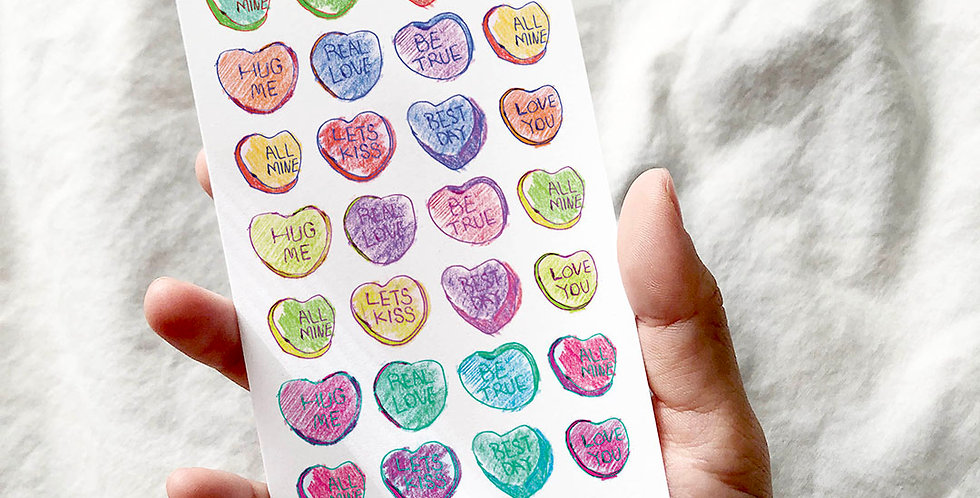 Sweetest Heart Candy Stickers
