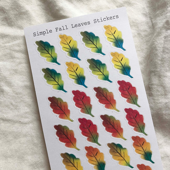 Simple Fall Leaves Stickers