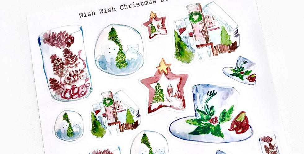 Wish Wish Christmas Stickers