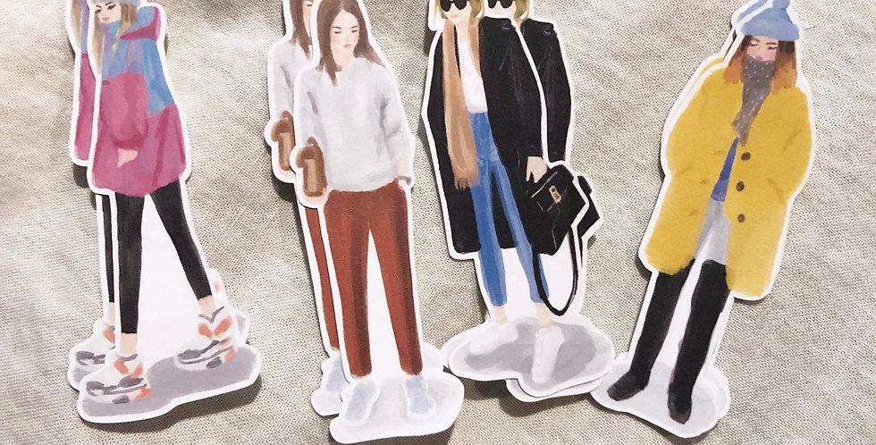 Winter Street Girls Stickers