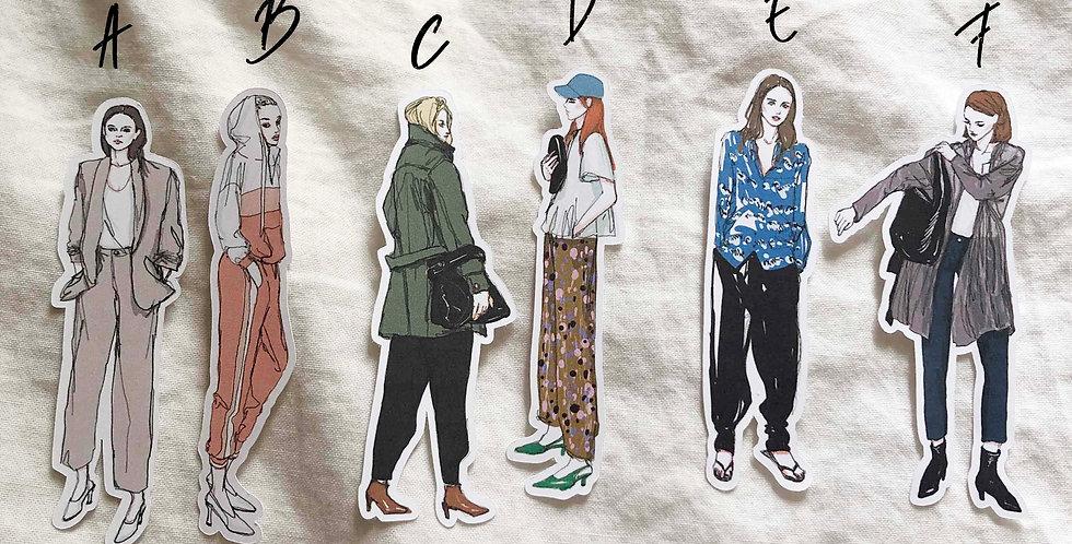 Autumn Fashion Girls Stickers 2019 - Whole Body
