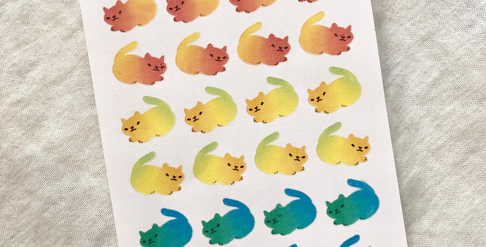 Angry Rainbow Cats Stickers