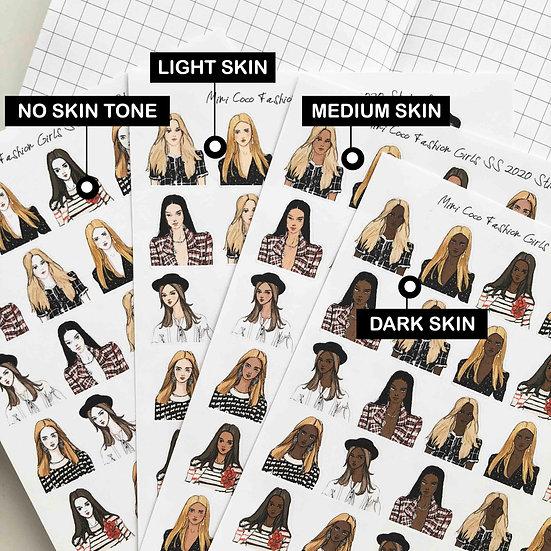 Mini Coco Fashion Girls SS 2020 Stickers - Upper Body