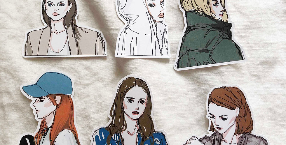 Autumn Fashion Girls Stickers 2019 - Upper Body