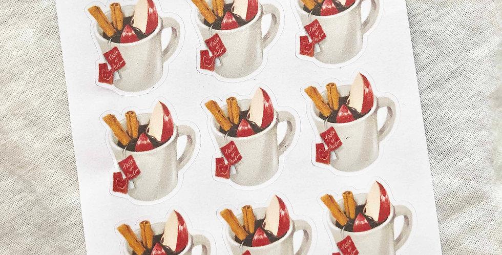 Apple Cinnamon Tea Stickers