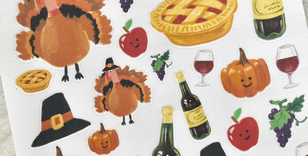 Happy Thanksgiving Day 2019 Stickers