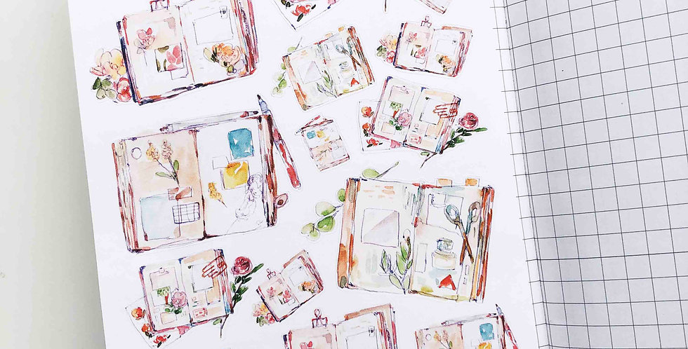 Vintage Traveler's Notebooks Stickers