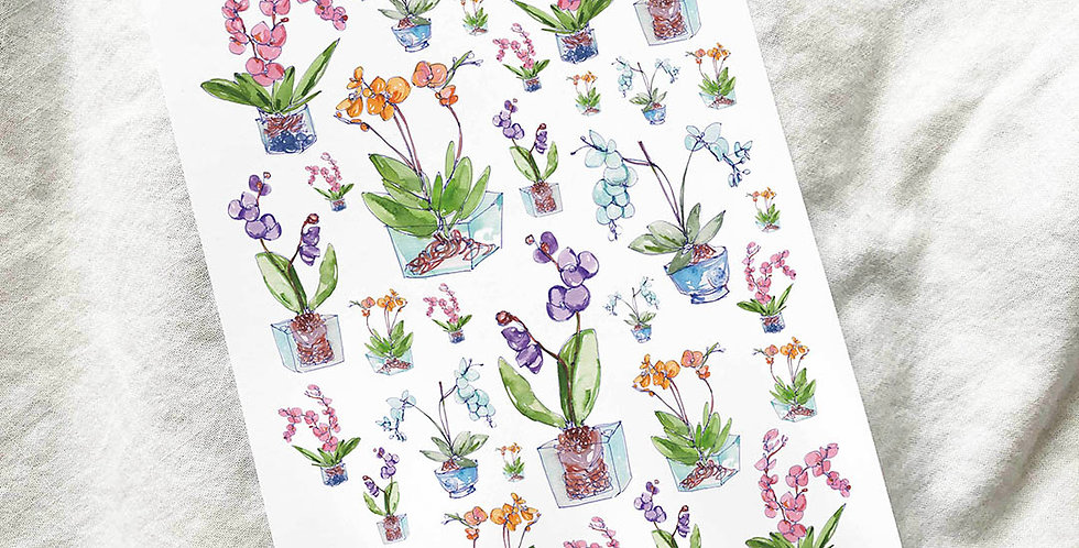 Spring Orchid stickers