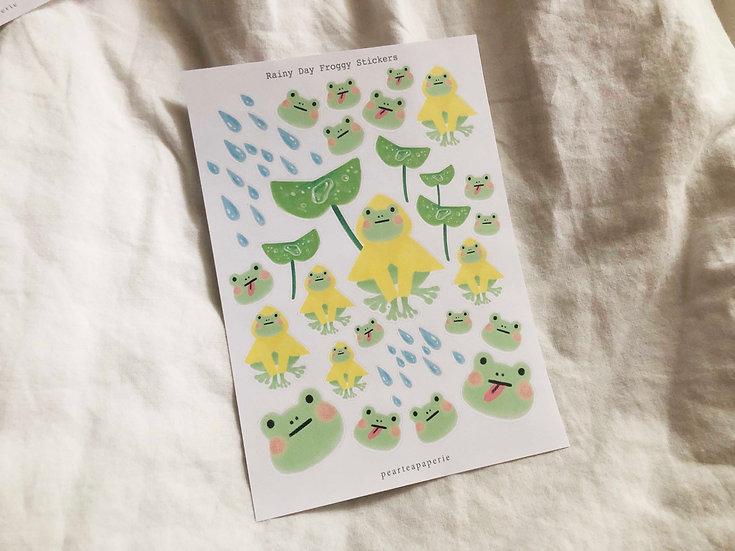 Rainy Day Froggy Stickers