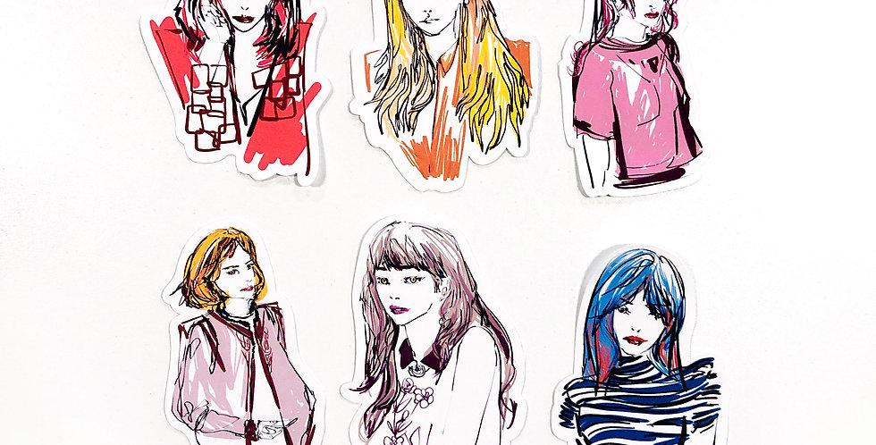 November Cover Girl Stickers