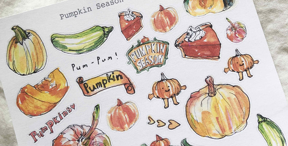 Pumpkin Season Stickers