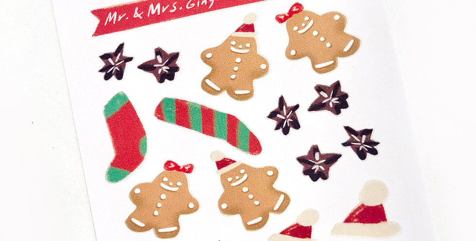 Mr. & Mrs. Ginger Bread Guys Stickers