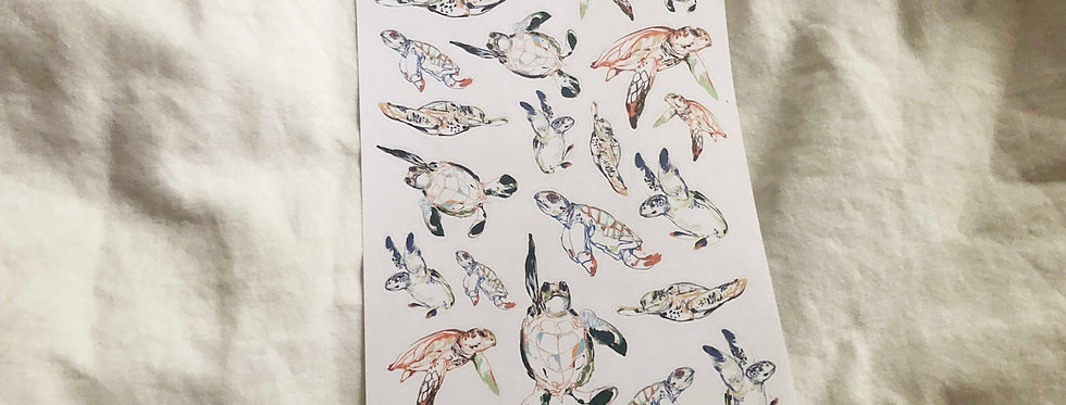 Swimming Sea Turtles Art