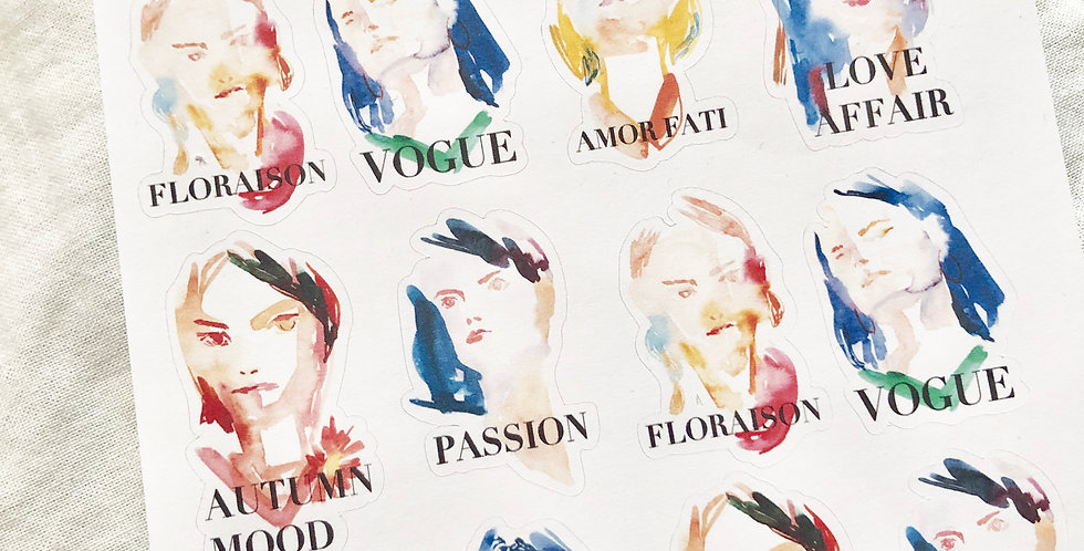 Mini French Mood Girls Stickers