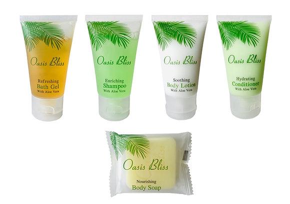 125 pcs set: Bath Gel, Shampoo, Lotion, Conditioner, Soap (25 pieces each)