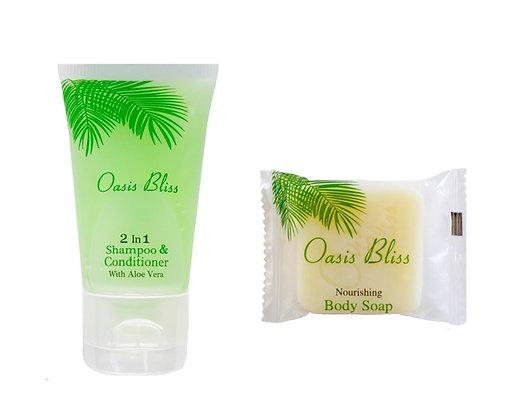 2-in-1 Shampoo & Conditioner + Soap Set (50 pieces each)