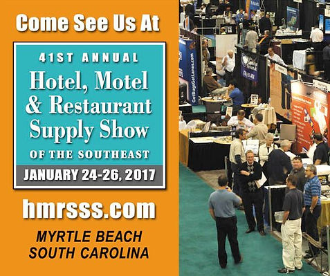 Trade show details with time and date