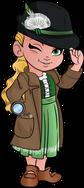 cute little girl cartoon detective