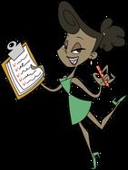 cartoon secretary