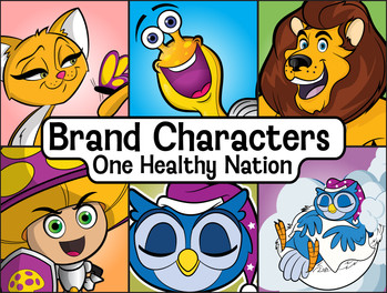One Healthy Nation Characters