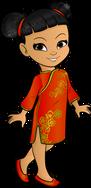 pretty little girl chinese cartoon character