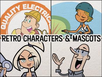 Retro Mascots Brand Character Designs