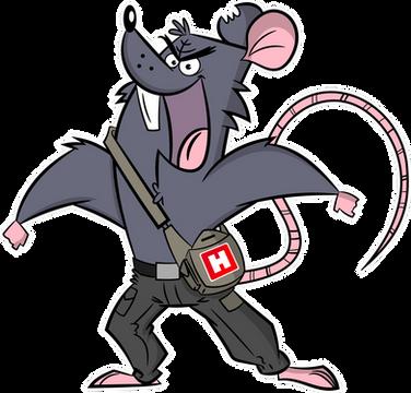 Cartoon Rat Mascot