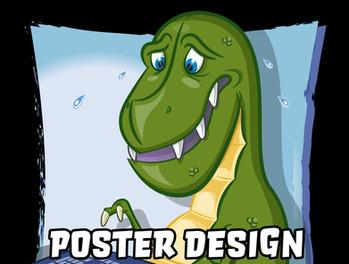 T-Rex Typing Poster