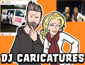 Radio Aire DJ Caricatures