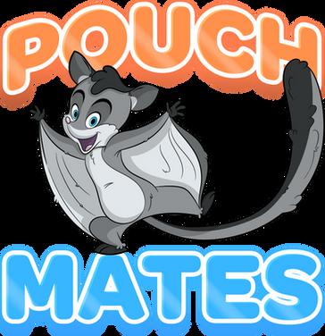 cute sugar glider cartoon character