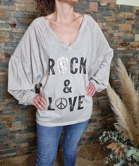 Camiseta rock & love