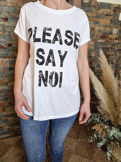 Camiseta say no