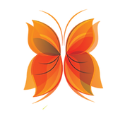 Papillon orange du logo de Source Vives