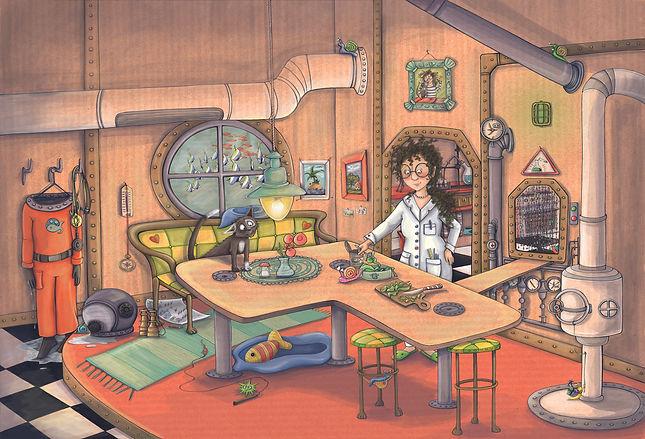 Julia Weinmann, Krümel auf dem Meeresboden, Doppelseite 4-farbig