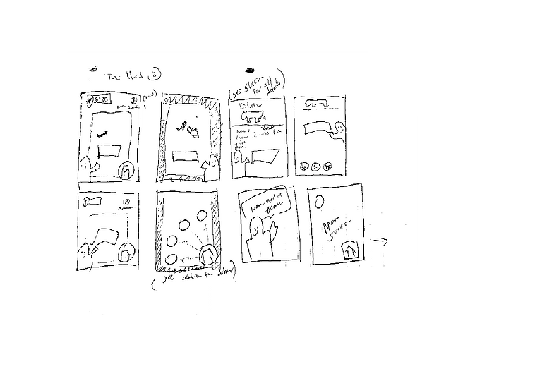 Mobile App Idea Sketch