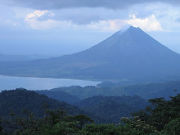 Arenal Volcano and Lake - Picture taken from San Gerardo - Children Eternal Rainforest near Monteverde Costa Rica