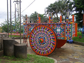 Traditional Oxcart in Sarchi Costa Rica