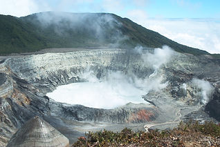 Poas Volcano Crater in Costa Rica