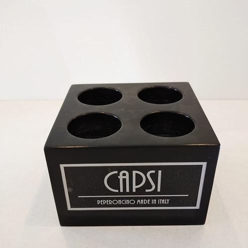 CAPSI - Wooden base n.4 cavities (empty)