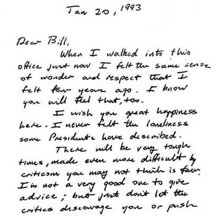 Letter from George H. W. Bush to Bill Clinton (January 20,1993)