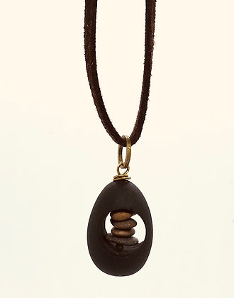 River Leather Cored Necklace