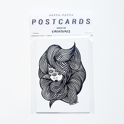 'CREATURES' Postcard pack