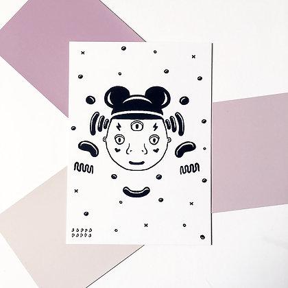 'Fake Mickey' Postcard